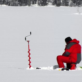 Ice Fishing at Aurora Town Park