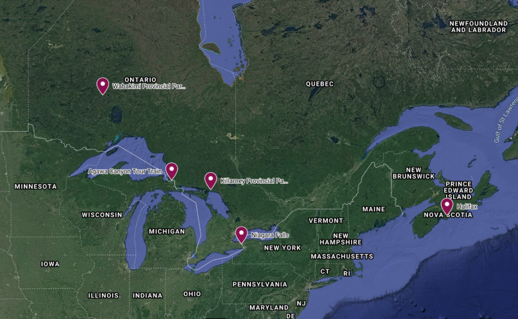 advantage spring activities canada map